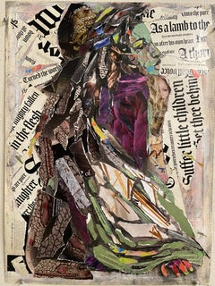 Scripture Tapestry, collage with woman and Biblical quotes
