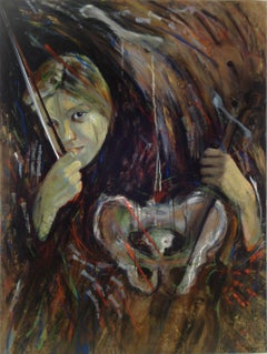Osso Sonata, music and anatomy , violin, face,