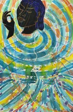 Like This (Homage to Rumi) colorful spiritual abstract goddess figure