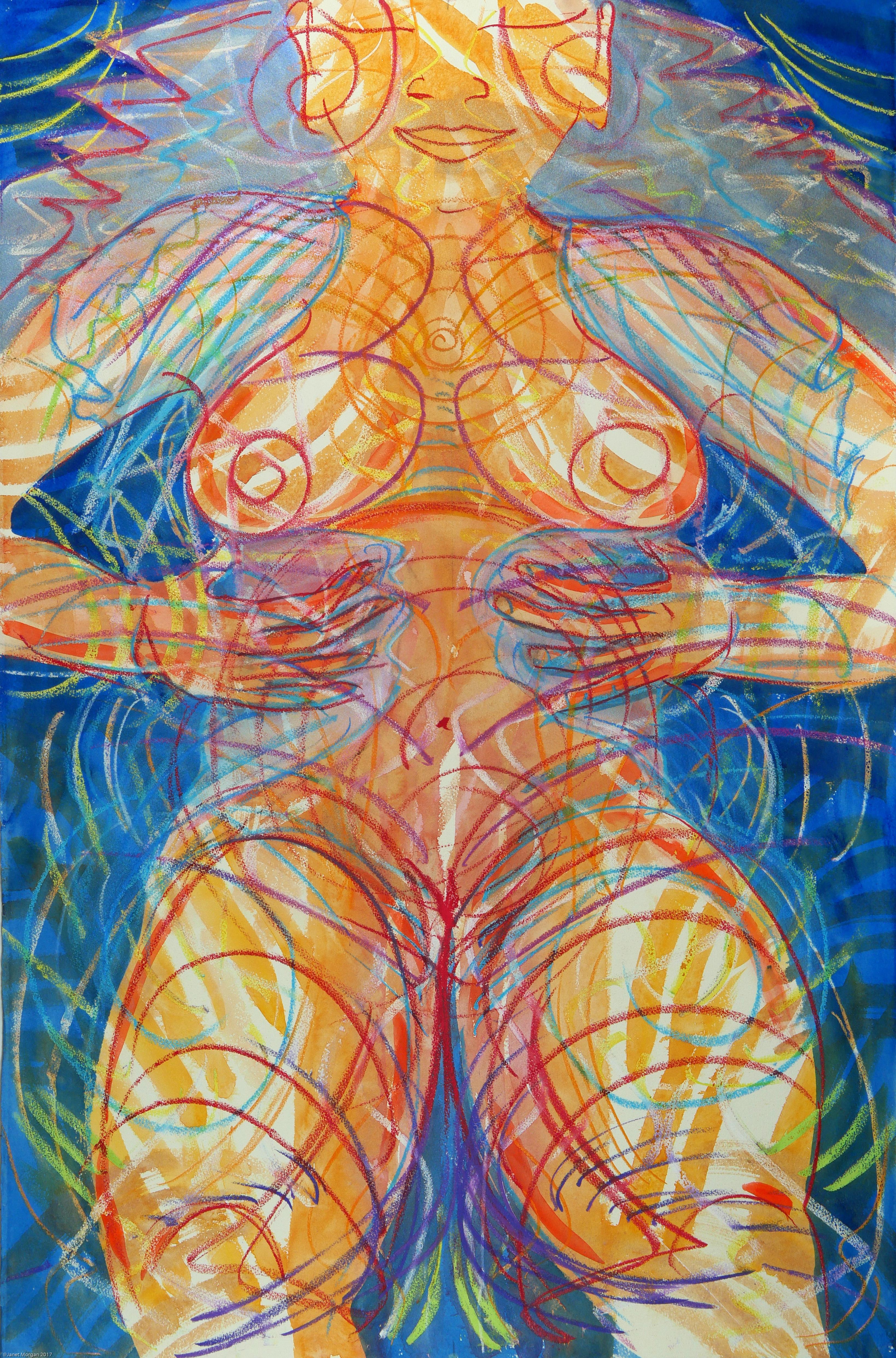 UmmHummm, colorful spiritual energetic mystical figure