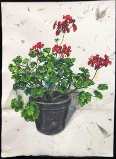 Pelargonium #4, Floral, Richard de Bas paper, realism, botanical