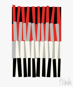 """Color Rhythm"" Modern, Mid Century, Contemporary Fine Art Print"