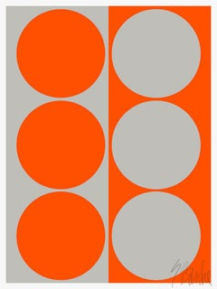 """Dynamic Pair: Orange Gray"" Modern, Mid Century, Contemporary Fine Art Print"