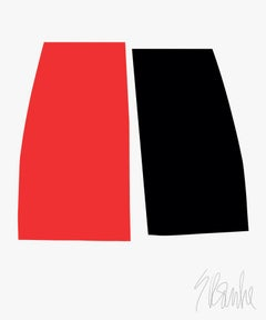 """This Much Red Equals This Much Black"" Modern, Contemporary, Fine Art Print"