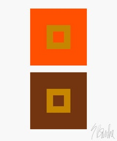 """Dynamic Color Change No. 3"" Mid Century, Modern, Contemporary, Fine Art Print"