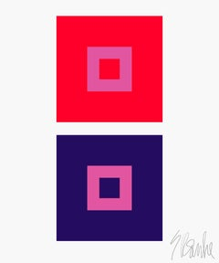 """Dynamic Color Change No. 1"" Mid Century, Modern, Contemporary, Fine Art Print"