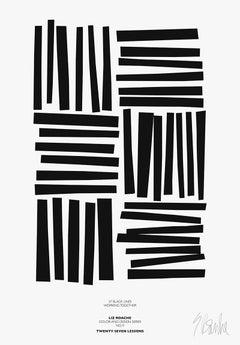 """37 Black Lines"" Modern, Mid Century, Contemporary Fine Art Print"