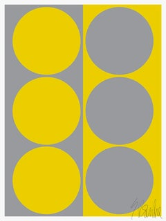 """Dynamic Pair: Yellow / Gray"" Modern, Mid Century, Contemporary Fine Art Print"