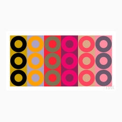 """Color Harmony, no. 2""  Modern, Mid Century, Contemporary, Fine Art Print"