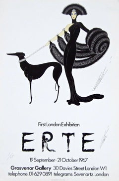 Symphony in Black, First Published Poster 1967 Erte #1/75 Extremely Rare SIGNED