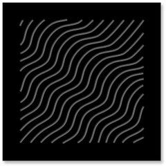 Waves (Black & Gray), original three dimensional geometric design wall relief