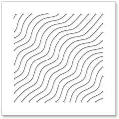 Waves (White), original three dimensional geometric design wall relief