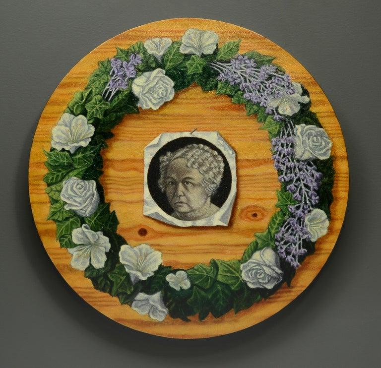 Jay Constantine Figurative Painting - Memorial Portrait: Elizabeth Cady Stanton