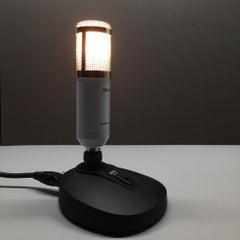 Re-purposed Microphone Lamp Sculpture