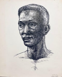 Untitled (Abstract African American Male Figure Study)