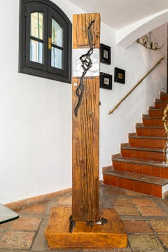 """ DELTA FORCE ""   unique sculpture, indoor/outdoor, recycled wood and aluminium"