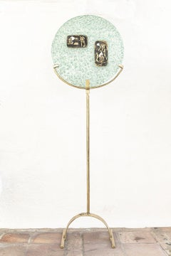 """"""" Jivol Cavern """" Unique abstract glass and brass sculpture"""
