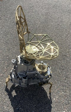 """"""" SPA """"  unique chair created from a recycled gearbox / transmission"""
