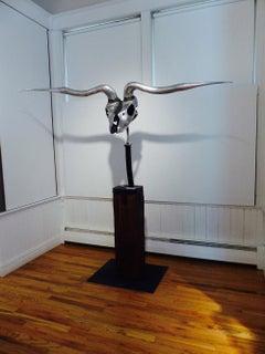""""""" Longhorn """" unique abstract sculpture"""