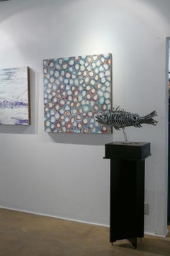 """Fish """" Grayling """"  unique abstract sculpture"""