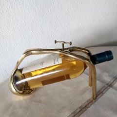 WINE POURER handmade sand cast brass