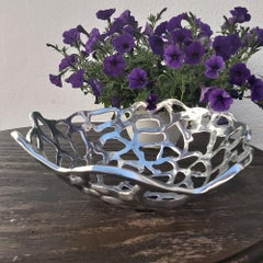 MESH FRUIT BOWL handmade, sand cast aluminium