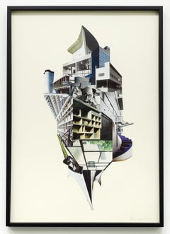 Le Monde du Corbusier / Collage, architecture, Switzerland, brutalism, portrait
