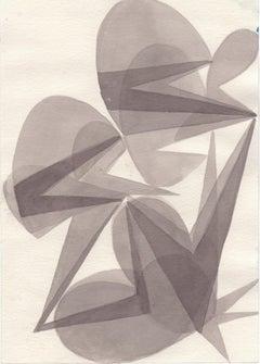 Untitled / watercolor, transparence, modernism, constructivism, edgy, lightness