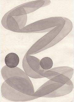 Untitled / watercolor, transparence, modernism, constructivism, curvy, lightness