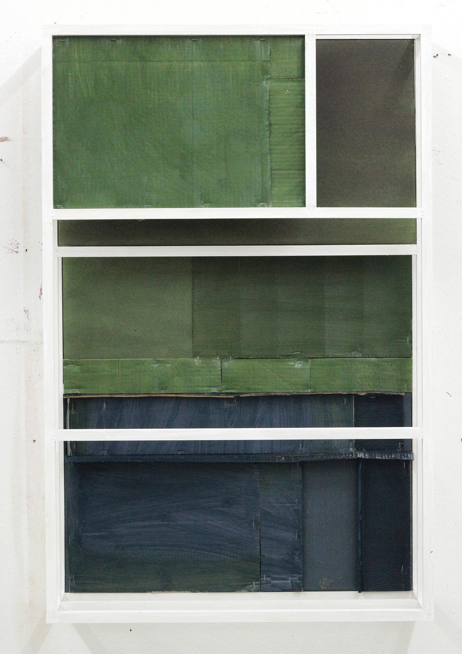 """Untitled(concurrent)05"" / Blue, green, sculpture, painting, relief, minimal"