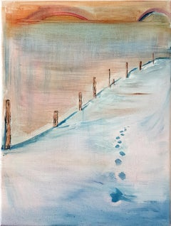 winter boogie / contemporary, figuration, story telling, landscape, painting