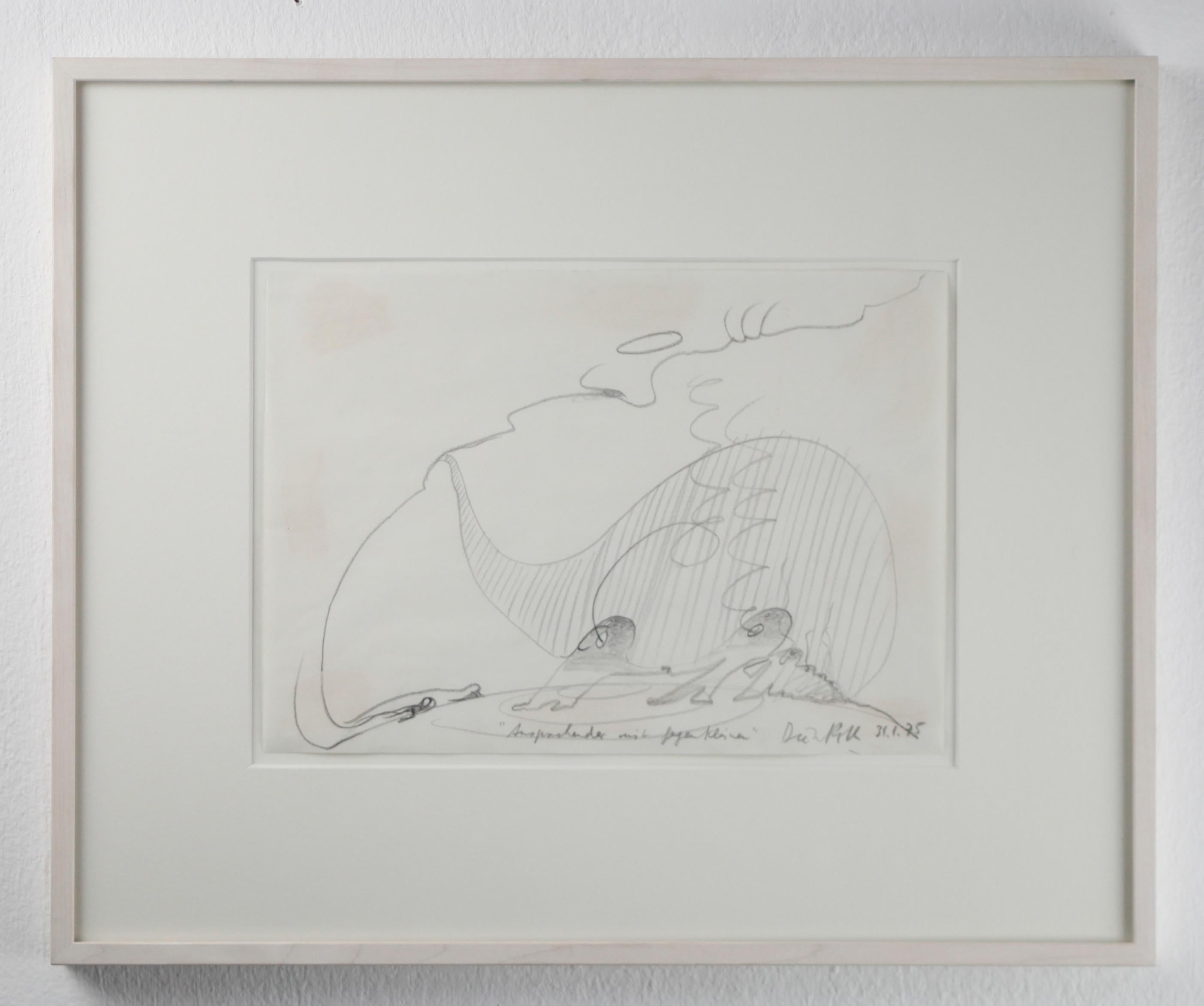 Ansprechender mit Gegenkleinen // Pencil on paper // signed and titled by Roth