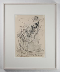 Ohne Titel / Untitled // Pencil on paper // signed by Roth // dedicated to Frank