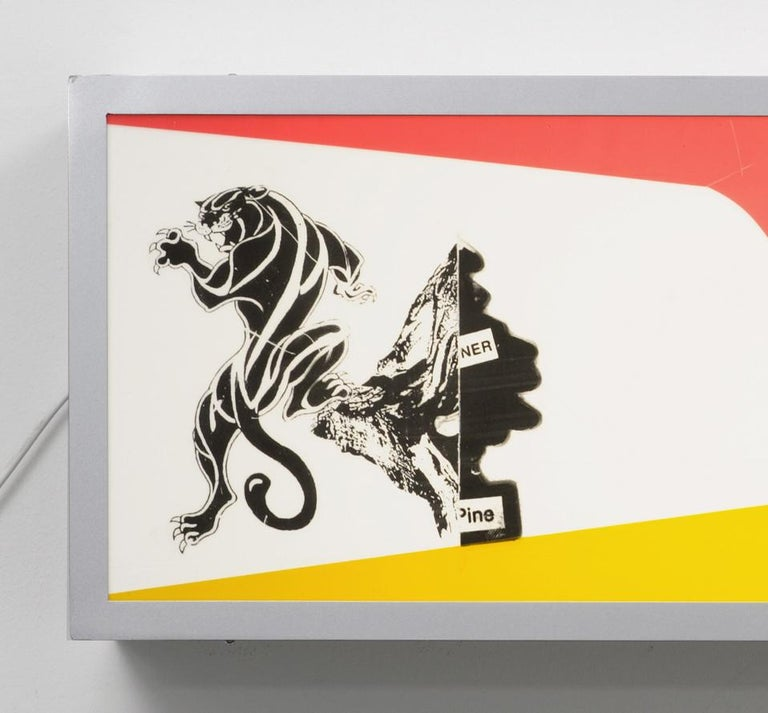 Alfa Romeo and Juventus / light box, neon, advertising, deconstruction, nike - Sculpture by Nic Hess