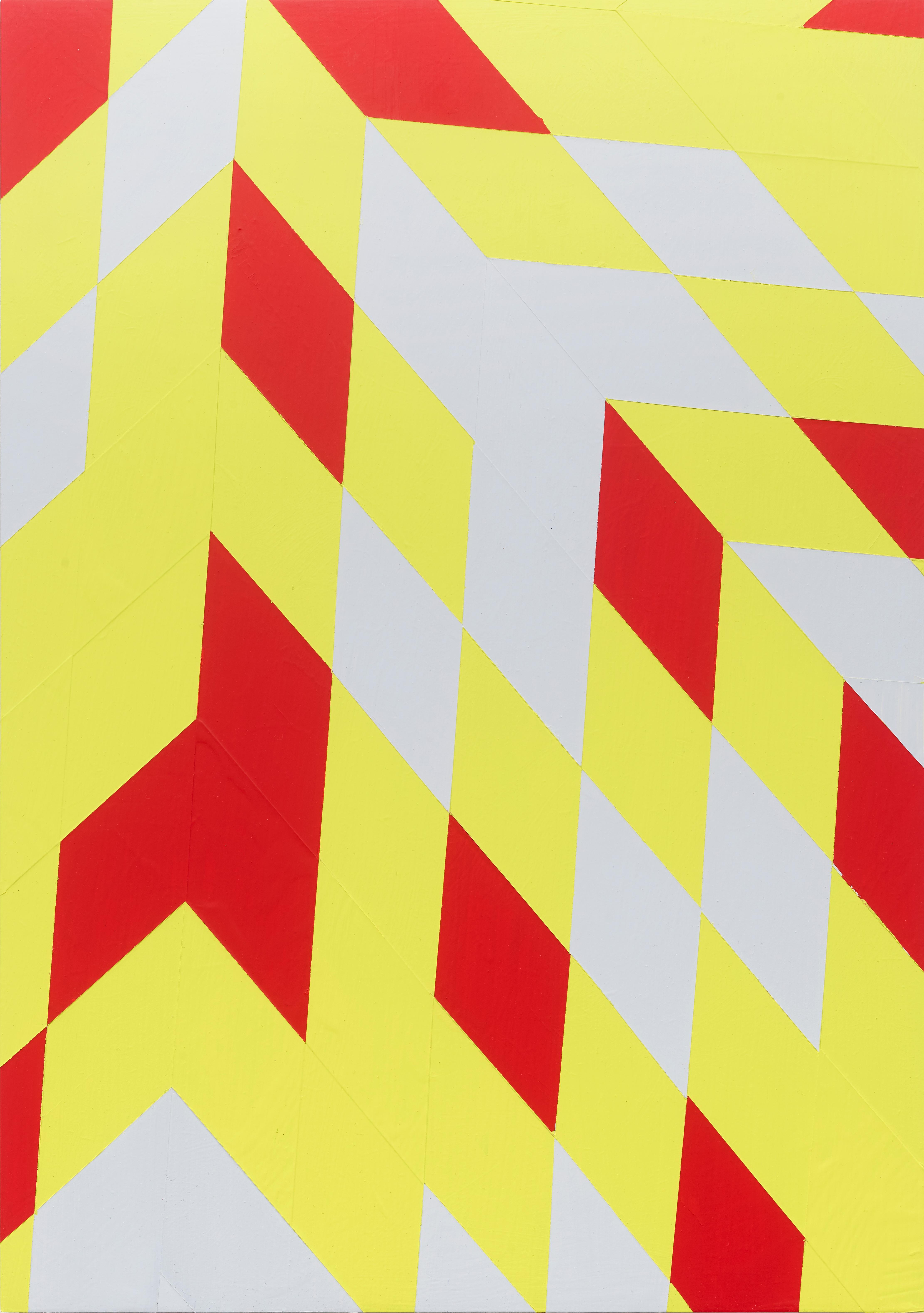 Untitled (M 104) / Rhombus, red, yellow, constructivist, hard edge, minimalist