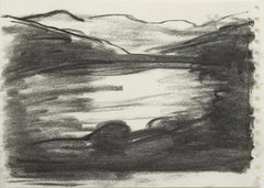 """""""Untitled"""" / charcoal drawing, expressionist style; landscape; figuration"""