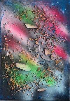 """""""sediments (8)"""" / abstract, conceptual painting, ecology, consciousness, climate"""