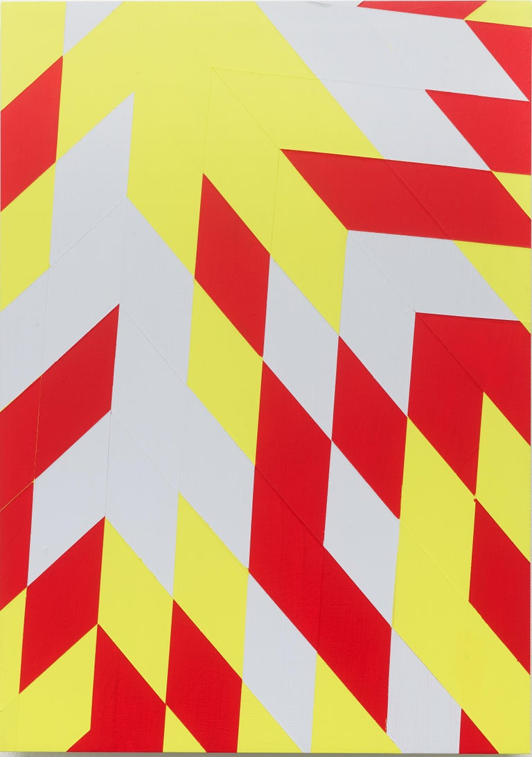 Jonas Maas Abstract Sculpture - Untitled (M 114) / Rhombus, red, yellow, constructivist, hard edge, minimalist