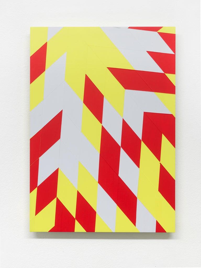 Untitled (M 114) / Rhombus, red, yellow, constructivist, hard edge, minimalist - Sculpture by Jonas Maas