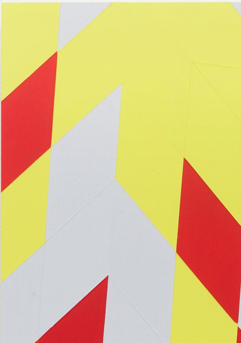 Untitled (M 114) / Rhombus, red, yellow, constructivist, hard edge, minimalist - Contemporary Sculpture by Jonas Maas