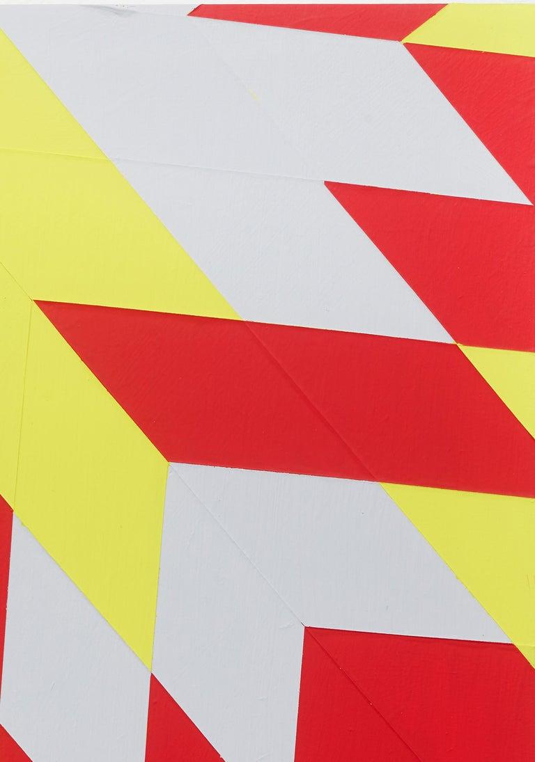 Untitled (M 114) / Rhombus, red, yellow, constructivist, hard edge, minimalist - Yellow Abstract Sculpture by Jonas Maas