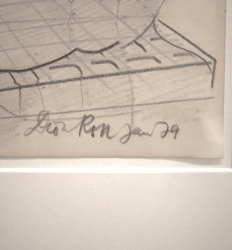 Ohne Titel / Untitled // Pencil on paper // signed by Roth // dedicated to Frank - Post-War Art by Dieter Roth