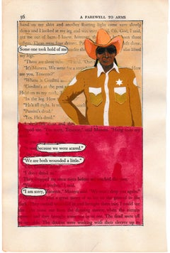 """""""#56 – BOTH WOUNDED A LITTLE"""", ink, pencil, gouache, collage, found text, poetry"""