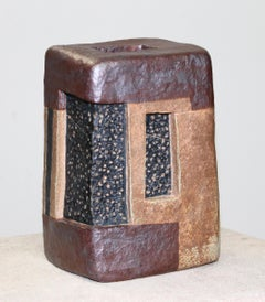 """MONUMENT"", sculpture, clay, abstract, geometry, contemporary, ceramic, tribal"