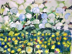 """ROGUE"", watercolor, flowers, herbs, weeds, garden, nurture, cull, wild bouquet"