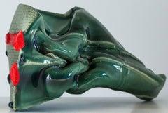 """""""JAMÓN JAMÓN I (Reliquary Generalife)"""", ceramic sculpture, porcelain vessel, urn"""