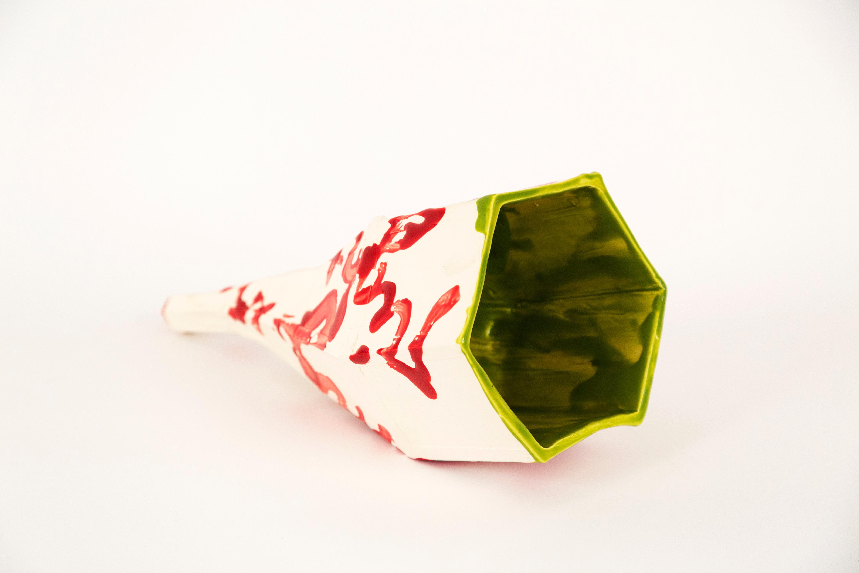 """JAMÓN JAMÓN VIII"", glaze ceramic sculpture, table, food, bait, identity, vessel"