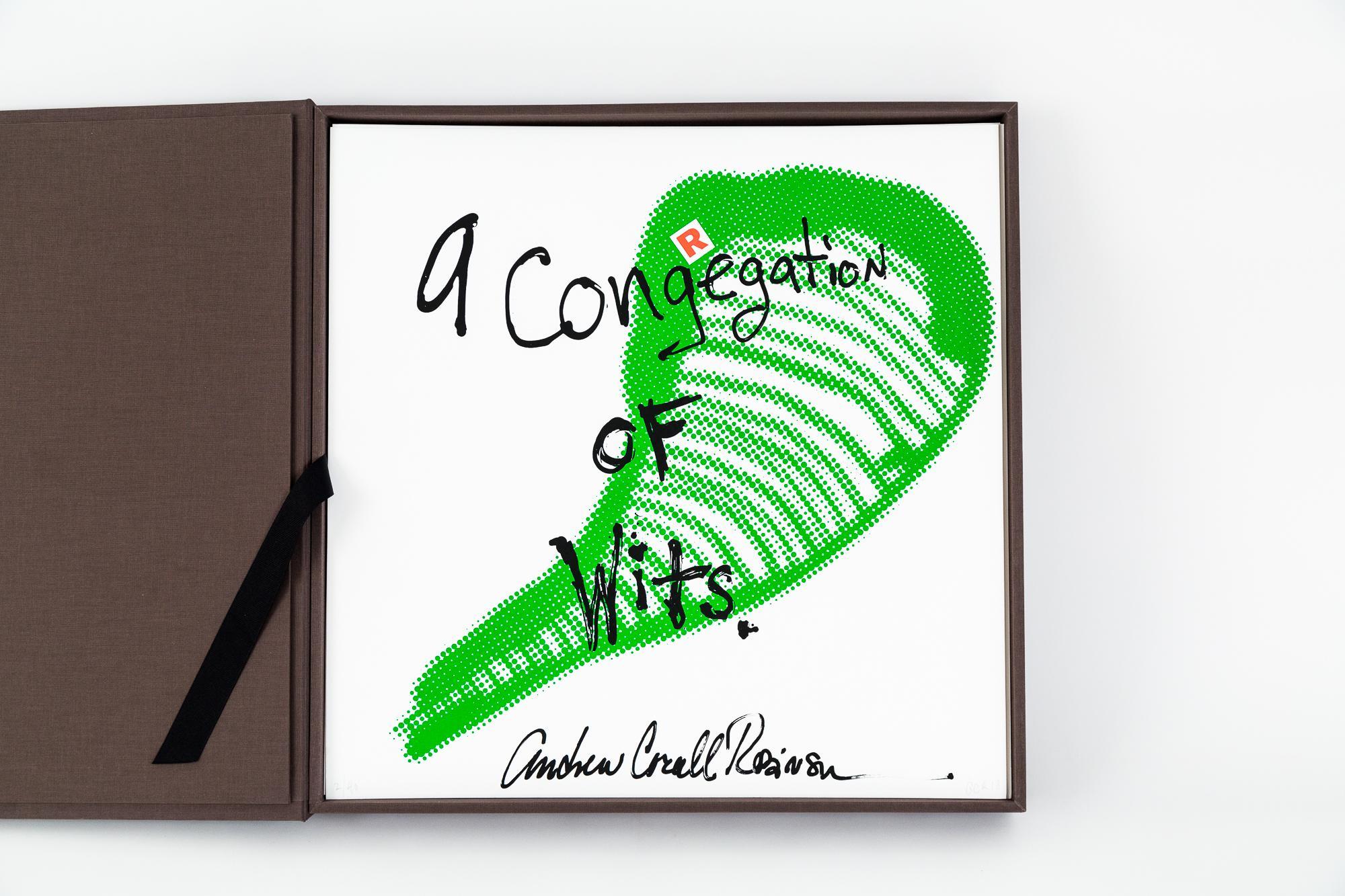 """CONGREGATION OF WITS: BOX SET"", 41 silkscreen prints, double-sided, custom box"