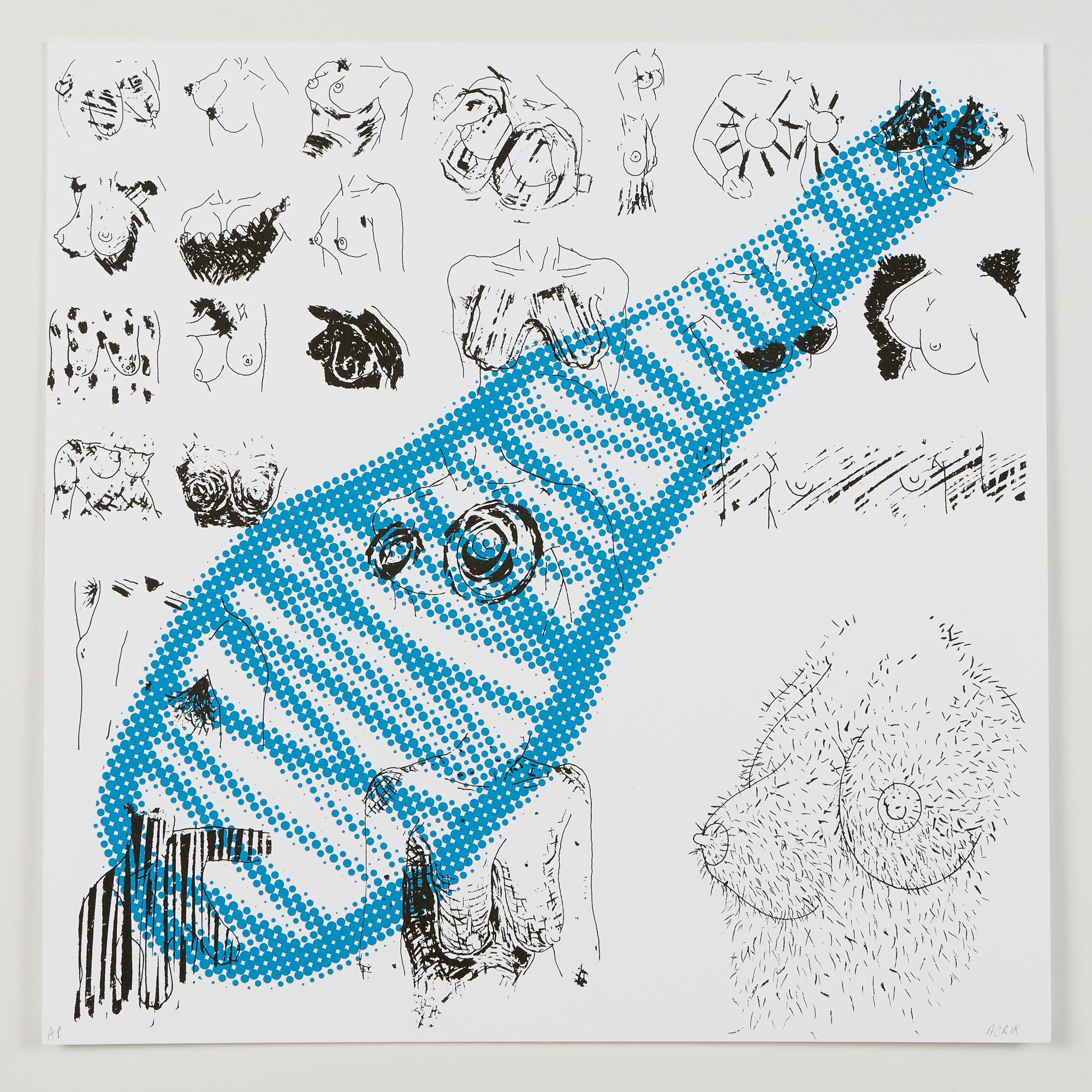 """""""S (It Is Safe To Be A Woman)"""", silkscreen print, double-sided, cotton rag paper"""