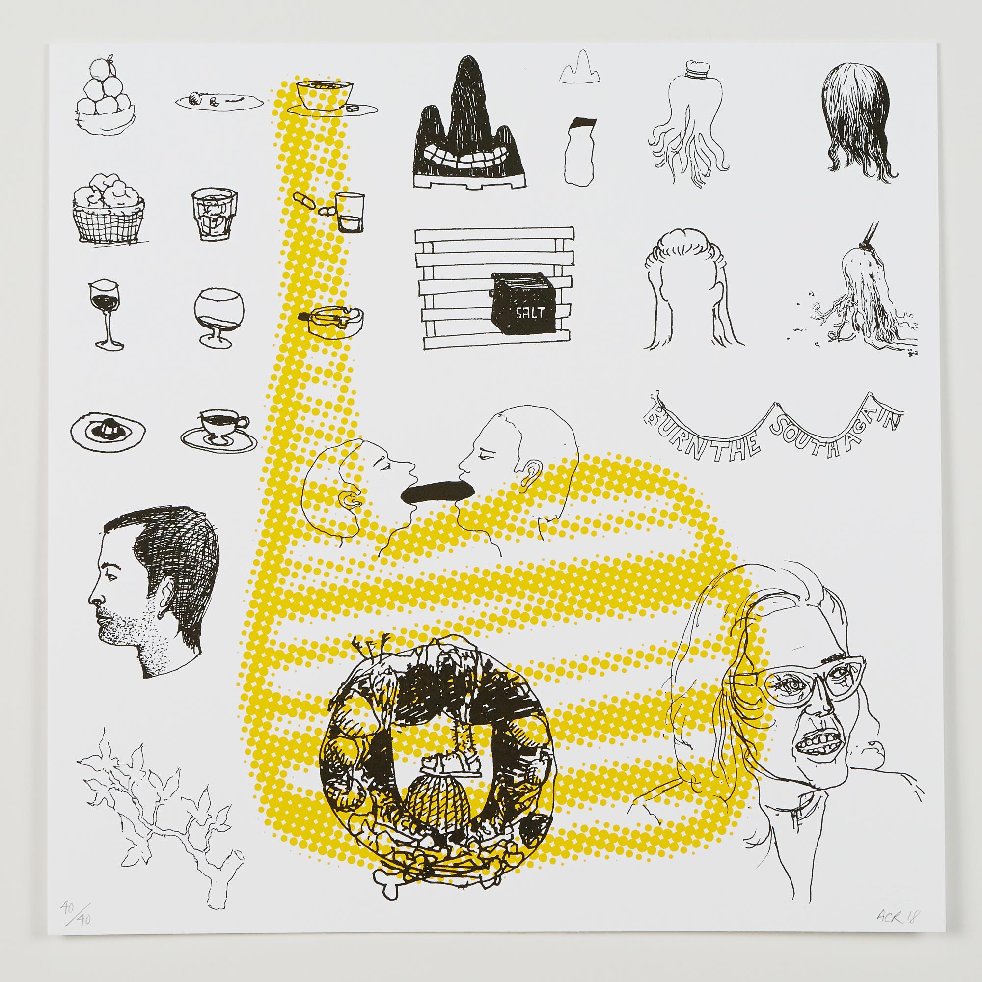 """4 (Recalculate Your Balance)"", silkscreen print, double-sided, cotton rag paper"